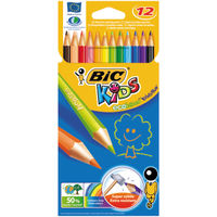 BIC Kids Assorted Colouring Pencils, Pack of 12 - 829029