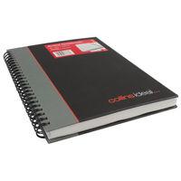 Collins Ideal Wirebound A5 Feint Ruled Notebook - 468W BLACK