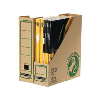 Fellowes Earth Series Brown A4 Magazine Files - Pack of 20 - BB57779