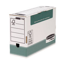 Panda Bankers Box System Foolscap Green Transfer File - Pack of 10 - 00792