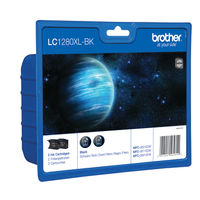 Brother LC-1280XL Black Ink Cartridge, Twin Pack - LC1280XLBKBP2