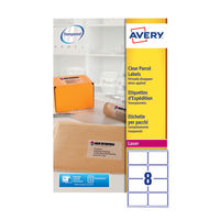 Avery Clear Laser Address Labels 99.1 x 67.7mm (Pack of 200) - L7565-25