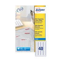 Avery Mini Address Labels 45.7 x 25.4mm (Pack of 1000) - J8654-25