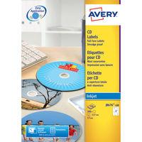 Avery QuickDRY CD/DVD Full Face White Labels (Pack of 50) - J8676-25