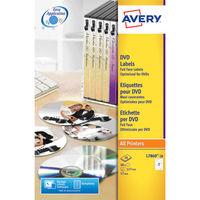 Avery CD/DVD Full Face White Matt Labels (Pack of 40) - L7860-20