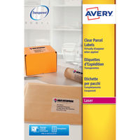 Avery Clear Laser Address Labels 199.1 x 284.1mm (Pack of 25) - L7567-25