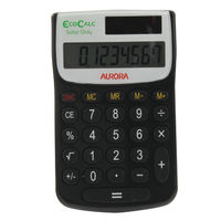 Aurora Recycled EC101 Pocket Calculator, 8 Digit Display - EC101
