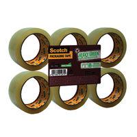 Scotch A Greener Choice Packaging Tape, 50mmx66m - Pack of 6 - GC5066F6-TSP-EU