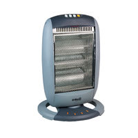View more details about Halogen 1200W Heater (3 Halogen Heat Bars and 3 Heat Settings) CRHH120/H