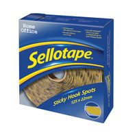 View more details about Sellotape Sticky Hook Spots (Pack of 125) 1445185