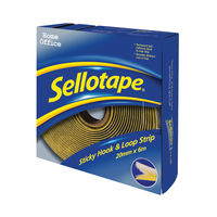 View more details about Sellotape Sticky Hook and Loop Strip 6m (Permanent, self-adhesive hook and loop strip) 1445180