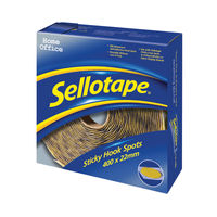 View more details about Sellotape Sticky Hook Spots (Pack of 400) 1445175
