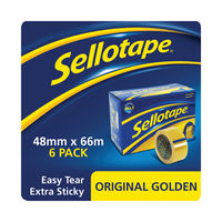 View more details about Sellotape Original Golden Tape 48mmx66m (Pack of 6) 1443304