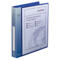 View more details about Snopake Executive Presentation A4 Electra Blue 4 D-Ring Binder, 25mm - 13387