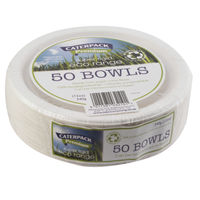 View more details about 7 Inch Biodegradable Super Rigid Bowls, Pack of 50 | 3866