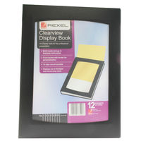 Rexel Clearview A4 Black Display Book (12 Pocket) - 10300BK