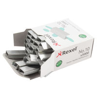 Rexel No.10 Metal 12/9.3mm Staples, Pack of 5000 - 06005