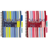 View more details about Pukka Pad A5 Hardcover Project Notebooks, 250 Pages - Pack of 3 - CBPROBA5