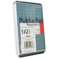 Pukka Pad Small Reporters Notebook - Pack of 3 - NM001