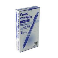 12 x Pentel Retractable Blue Energel XM Gel Pens - BL77-C