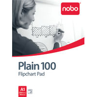 Nobo 100  A1 Plain White Flipchart Pad, Pack of 2 - 34633681