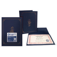 Computer Craft Certificate Cover, 290gsm, Navy Blue - Pack of 5 - 13596