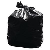 2Work Light Duty Refuse Sacks Black, Pack of 200 - KF73375