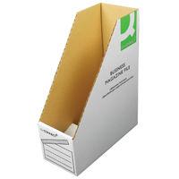 Basics White Magazine File W100xD230xH300mm - (Pack of 10) KF21659