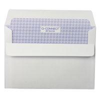 Q-Connect White C6 Self Seal Window Envelopes, 90gsm - KF3410