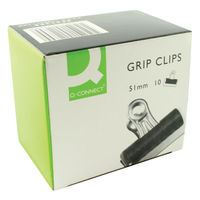 Basics 51mm Black Grip Clip (Pack of 10) KF01289