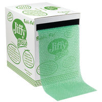 View more details about Jiffy Recycled Green Bubble Wrap Roll Dispenser, 330mm x 33m - JF793