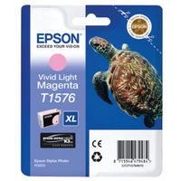 Epson T1576 Vivid Light Magenta Ink Cartridge - High Capacity C13T15764010
