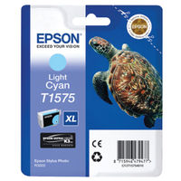Epson T1575 Light Cyan Ink Cartridge - High Capacity C13T15754010