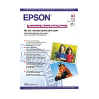 View more details about Epson Premium White A3 Glossy Photo Paper, 255gsm - 20 Sheets - C13S041315