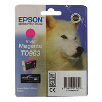 View more details about Epson T0963 Vivid Magenta Inkjet Cartridge C13T09634010 / T0963