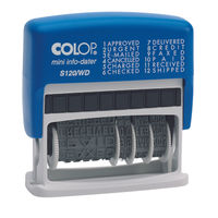 COLOP S120/WD Self-Inking Dial-A-Phrase Rubber Phrase and Date Stamper - EM35618