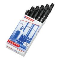 Edding 2000C Bullet Tip Black Permanent Marker Pens, Pack of 10 - ED87841