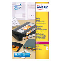 Avery White Video Face Laser Labels, 76.2 x 46.4mm (Pack of 300) - L7671-25