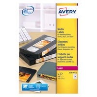 Avery White Video Spine Laser Labels, 145 x 17mm (Pack of 400) - L7674-25