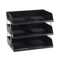 Avery Wide Entry Black A4 Letter Tray - MYW44BK