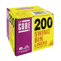 Le Cube 46 Litre Swing Bin Liners with dispenser, Pack of 200 - 0480