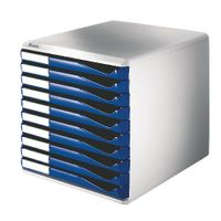 Leitz 10 Drawer Form Set, Blue and Grey – 52810035