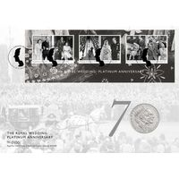 The Royal Wedding Platinum Anniversary Coin Cover - AN141