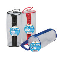 Tuff Bag Assorted Trims Cylinder Pencil Case, Pack of 12 - 301341