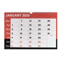 Wirebound A3 Monthly Calendar 2020 - KFYC2320