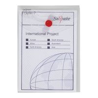 Snopake Clear A6 Portrait Polyfile Wallet, Pack of 5 - 13293
