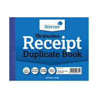 View more details about Silvine Carbonless Receipt Duplicate Book, 100 Pages (Pack of 12) - 720-T
