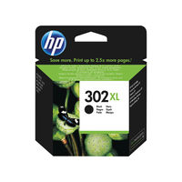 HP 302 XL Black Ink Cartridge - High Capacity F6U68AE