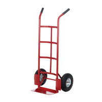 View more details about Pneumatic Tyre Sack Truck Red 150kg Capacity (H1155 x W550 x D450mm) PTST