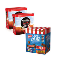 2 x 750g Tins of Nescafe Original Coffee with Free Nestle Mini Breaks - NL819841